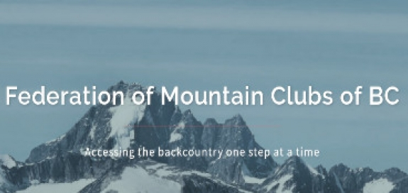Federation of Mountain Clubs of BC Banner